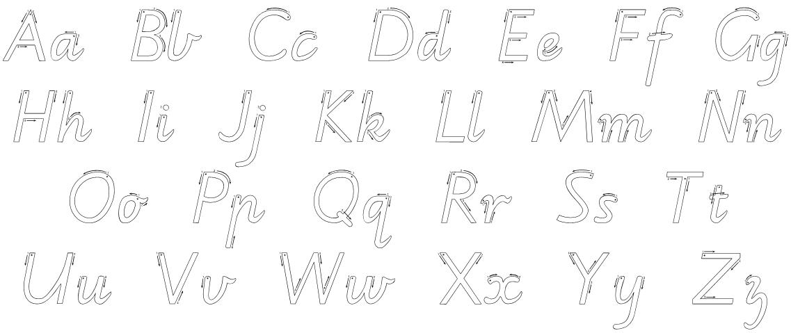 cursive writing worksheets alphabet source quoteko Quotes