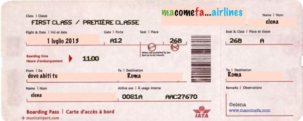 biglietto aereo